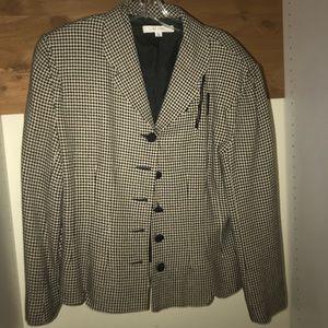 Vintage Jackets & Coats - VINTAGE Rex Lester Black&White Blazer
